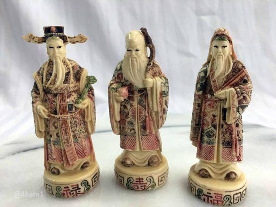 Drei asiatische Figuren, LP, Ahorn1, Entrümpelung Mainz
