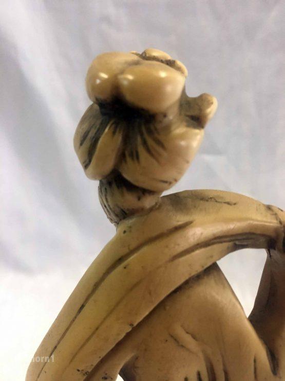 Figur Frau mit Kranich, Ahorn1, Entrümpelung Mainz